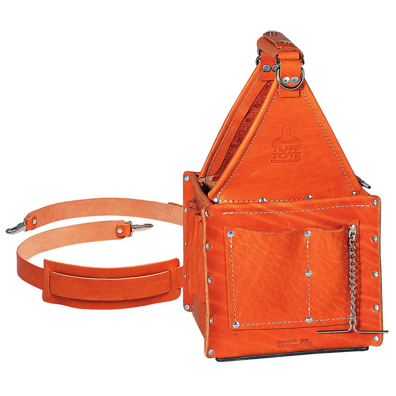 Ideal 35-975 Tuff-Tote™ Ultimate Tool Carrier With Shoulder Strap; Premium Leather, 4 Pockets