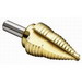 Ideal 35-515 2 Flute Step Drill Bit; 1/4 to 1-1/8 Inch, 16 Increments, 3/8 Inch Shank, High Speed Steel, Titanium Nitrate