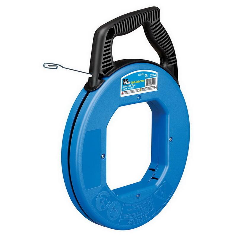 Ideal 31-058 Blued-Steel™ Tuff-Grip™ Pro Fish Tape; 100 ft Length, Highest Grade Carbon Steel