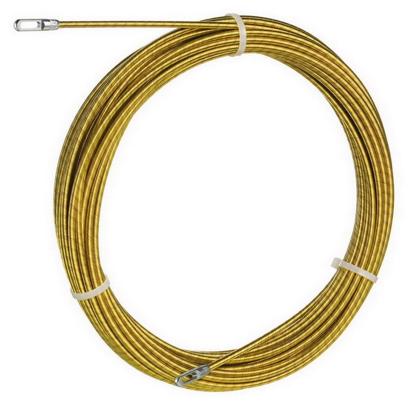 Ideal 31-141 Gold-Fish® Fish Tape; 50 ft Length, Brass-Plated Coiled Steel