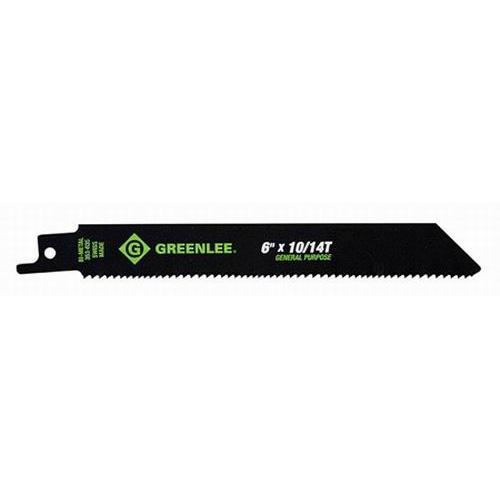 Greenlee 353-635 General Purpose Bi-Metal With Cobalt Reciprocating Saw Blade 6 Inch- 3/4 Inch- 10/14 TPI- 5/Pack-