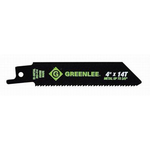 Greenlee 353-414 Bi-Metal With Cobalt Reciprocating Saw Blade 4 Inch- 3/4 Inch- 14 TPI- 5/Pack-