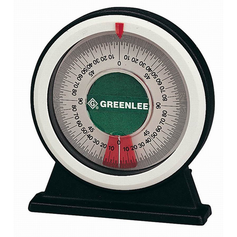 Greenlee 1895 Large Bending Angle Protractor With Magnetic Base; 8.900 Inch Length x 6.400 Inch Width x 1.500 Inch Height