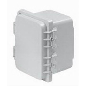 Hoffman A14128PHC PolyPro™ Enclosure; Polyester, Light Gray, Solid, Snap Hinged, Snap Down Latch