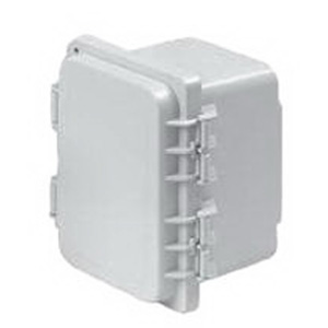 Hoffman A12106PHC PolyPro™ Enclosure; Polyester, Light Gray, Solid, Screw On, Hinged