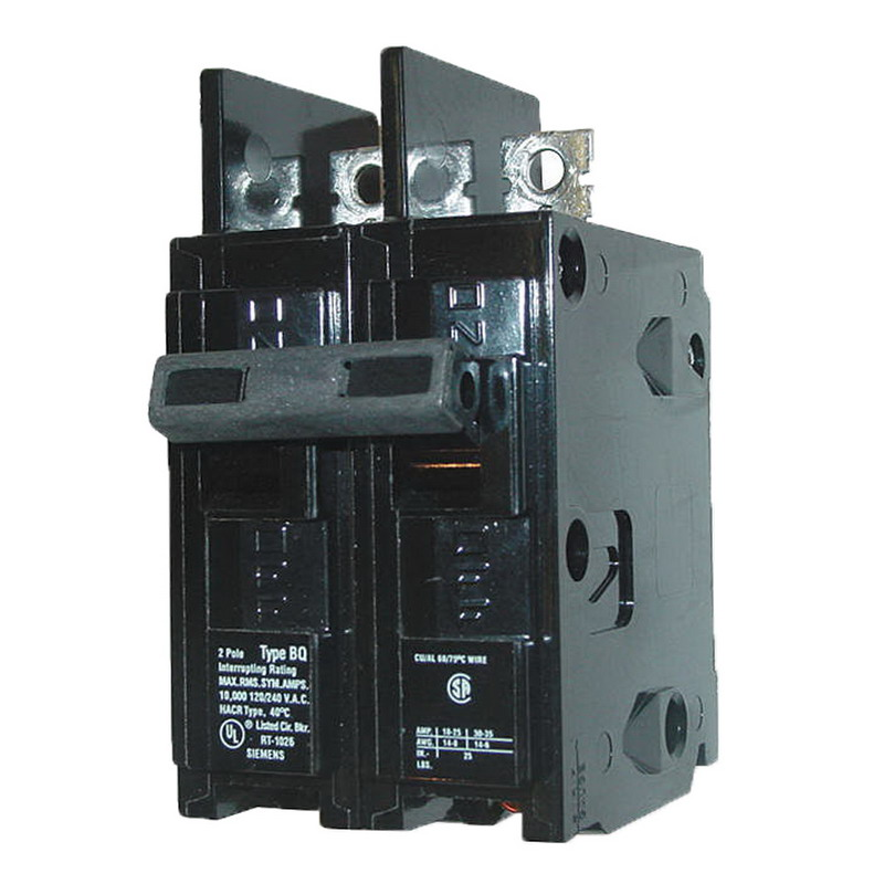 Siemens BQ2B030 Molded Case Circuit Breaker; 30 Amp, 120/240 Volt AC, 2-Pole, Bolt-On Mount