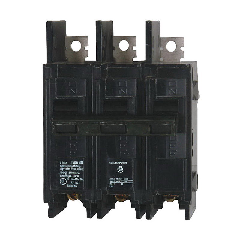 Siemens BQ3B015 Molded Case Circuit Breaker; 15 Amp, 240 Volt AC, 3-Pole, Bolt-On Mount