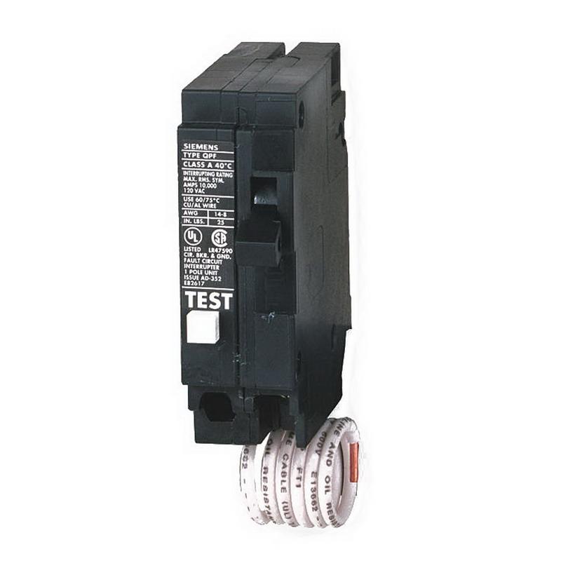 Siemens QF120 Circuit Breaker; 20 Amp, 120 Volt AC, 1-Pole, Plug-In Mount