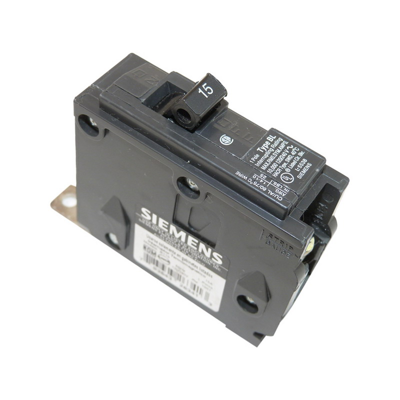 Siemens B115 Molded Case Circuit Breaker; 15 Amp, 120/240 Volt AC, 1-Pole, Bolt-On Mount