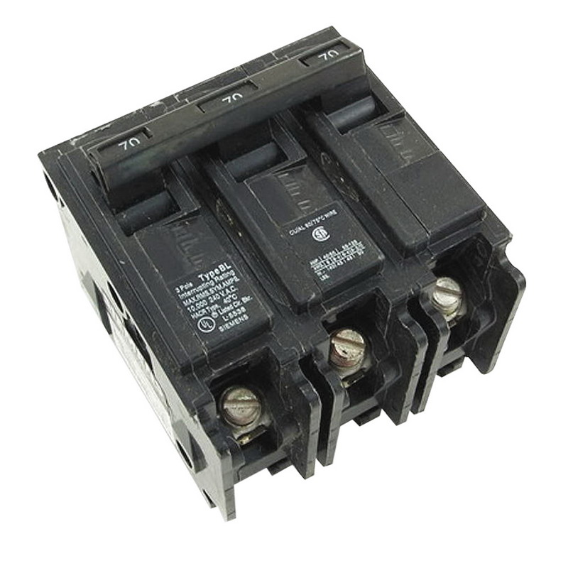 Siemens B350 Molded Case Circuit Breaker; 50 Amp, 240 Volt AC, 3-Pole, Bolt-On Mount
