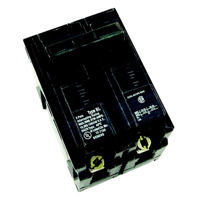 Siemens B2100 Molded Case Circuit Breaker; 100 Amp, 120/240 Volt AC, 2-Pole, Bolt-On Mount