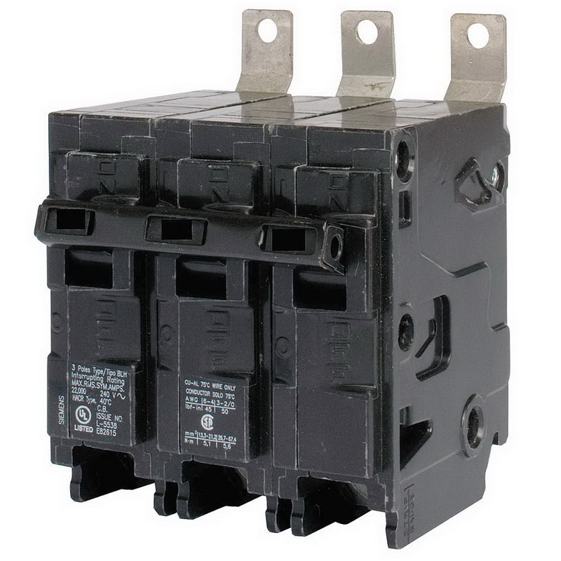 Siemens B3100H Molded Case Circuit Breaker; 100 Amp, 240 Volt AC, 3-Pole, Bolt-On Mount