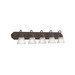 Kichler 5339TZ 5-Light Wall Mount Incandescent Bath Light; 100 Watt, Tannery Bronze, Lamp Not Included