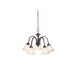 Kichler 2022TZ Hastings Collection 5-Light Ceiling Mount Incandescent Chandelier; 100 Watt, Tannery Bronze, Lamp Not Included