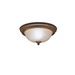Kichler 8653TZ Dover Collection 2-Light Ceiling Flush Mount Incandescent Light Fixture; 60 Watt, Tannery Bronze, Lamp Not Included