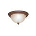 Kichler 8654TZ Dover Collection 2-Light Ceiling Flush Mount Incandescent Light Fixture; 60 Watt, Tannery Bronze, Lamp Not Included