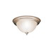Kichler 8654NI Dover Collection 2-Light Ceiling Flush Mount Incandescent Light Fixture; 60 Watt, Brushed Nickel, Lamp Not Included