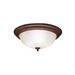 Kichler 8655TZ Hastings Collection 3-Light Ceiling Flush Mount Incandescent Light Fixture; 60 Watt, Tannery Bronze, Lamp Not Included