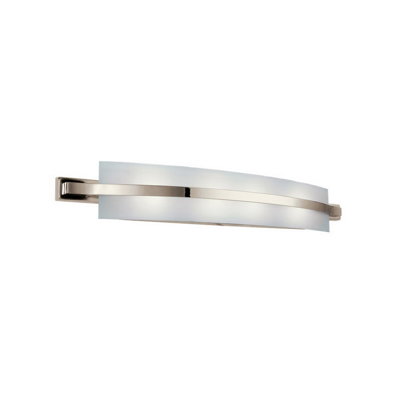 Kichler 10688pn freeport collection 2 light wall mount linear fluorescent bath vanity light for Fluorescent bathroom light fixtures wall mount