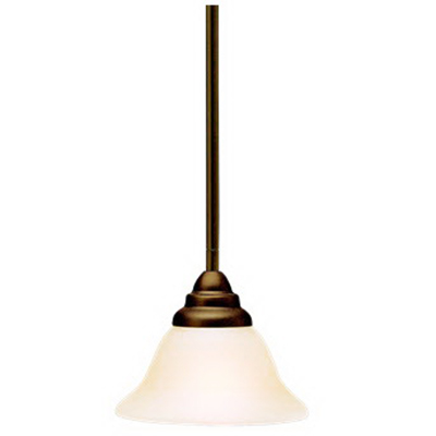 Kichler 3476OZ Telford Collection 1-Light Ceiling Mount Mini-Pendant Light Fixture; 100 Watt, Olde Bronze, Lamp Not Included