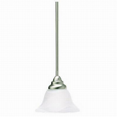 Kichler 3476NI Telford Collection 1-Light Ceiling Mount Mini-Pendant Light Fixture; 100 Watt, Brushed Nickel, Lamp Not Included