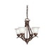 Kichler 2019TZ Dover Collection 4-Light Ceiling Mount Single-Tier Incandescent Mini Chandelier; 60 Watt, Tannery Bronze, Lamp Not Included