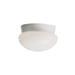 Kichler 8101WH 1-Light Flush Mount Light Fixture; 60 Watt, White, Lamp Not Included