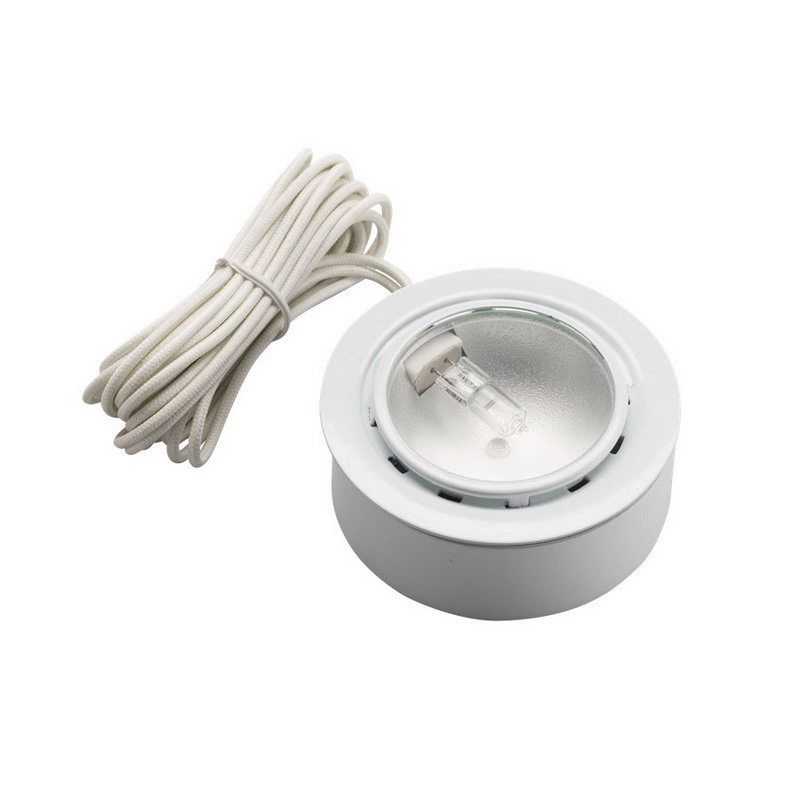 Kichler 12501WH TaskWork Collection Xenon Bright Disc Puck Light; 20 Watt, 2700K, White, Lamp Included