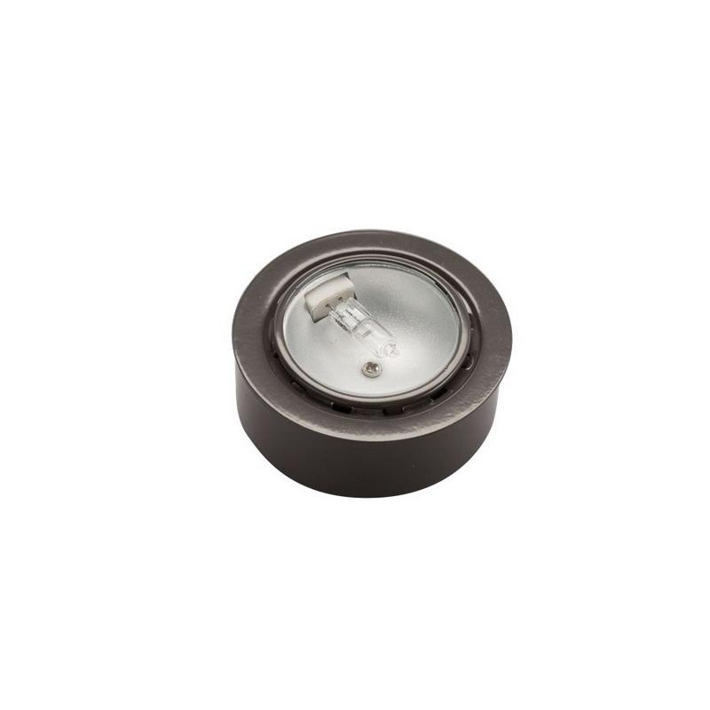 Kichler 12501BZ TaskWork Collection Xenon Bright Disc Puck Light; 20 Watt, 2700K, Bronze, Lamp Included