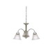 Kichler 3293NI Wynberg Collection 3-Light Ceiling Mount Incandescent Chandelier; 100 Watt, Brushed Nickel, Lamp Not Included