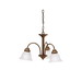 Kichler 3293OZ Wynberg Collection 3-Light Ceiling Mount Incandescent Chandelier; 100 Watt, Olde Bronze, Lamp Not Included