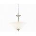 Kichler 3694NI Armida Collection 2-Light Ceiling Semi Flush/Inverted Mount Incandescent Pendant Fixture; 100 Watt, Brushed Nickel, Lamp Not Included