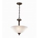 Kichler 3694OZ Armida Collection 2-Light Ceiling Semi Flush/Inverted Mount Incandescent Pendant Fixture; 100 Watt, Olde Bronze, Lamp Not Included