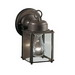 Kichler 9611OZ New Street™ 1-Light Incandescent Wall Lantern; 60 Watt, Olde Bronze, Lamp Not Included