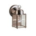 Kichler 9611SS New Street™ 1-Light Incandescent Wall Lantern; 60 Watt, Stainless Steel, Lamp Not Included