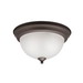 Kichler 8111OZ Stafford Collection 2-Light Ceiling Flush Mount Incandescent Light Fixture; 60 Watt, Olde Bronze, Lamp Not Included