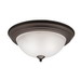 Kichler 8112OZ Stafford Collection 2-Light Ceiling Flush Mount Incandescent Light Fixture; 60 Watt, Olde Bronze, Lamp Not Included