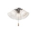 Kichler 338505NI 3-Light Fan Light Kit; 120 Watt, Brushed Nickel