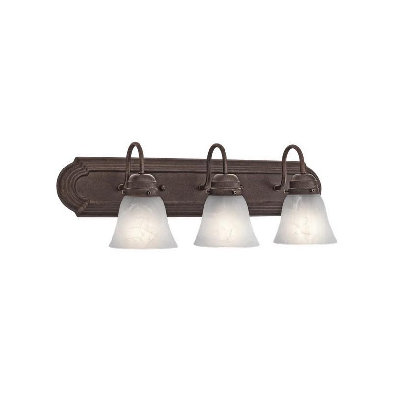 Wall Mounted Incandescent Lamp : Kichler 5337TZ 3-Light Wall Mount Incandescent Bath Vanity Light Fixture; 100 Watt, Tannery ...