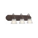 Kichler 5337TZ 3-Light Wall Mount Incandescent Bath Vanity Light Fixture; 100 Watt, Tannery Bronze, Lamp Not Included