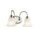 Kichler 45882NI Nicholson Collection 2-Light Wall Mount Incandescent Bath Light; 100 Watt, Brushed Nickel, Lamp Not Included
