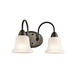 Kichler 45882OZ Nicholson Collection 2-Light Wall Mount Incandescent Bath Light; 100 Watt, Olde Bronze, Lamp Not Included