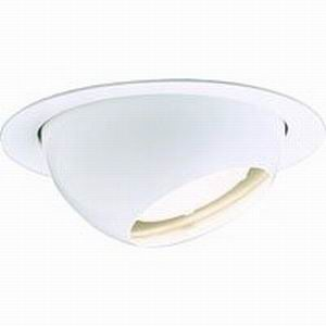 Lightolier 1082 Philips Lytecaster IC and Non-IC 45 Degree Adjustable 5 Inch Eyeball Reflector Trim Perma/Gloss  White