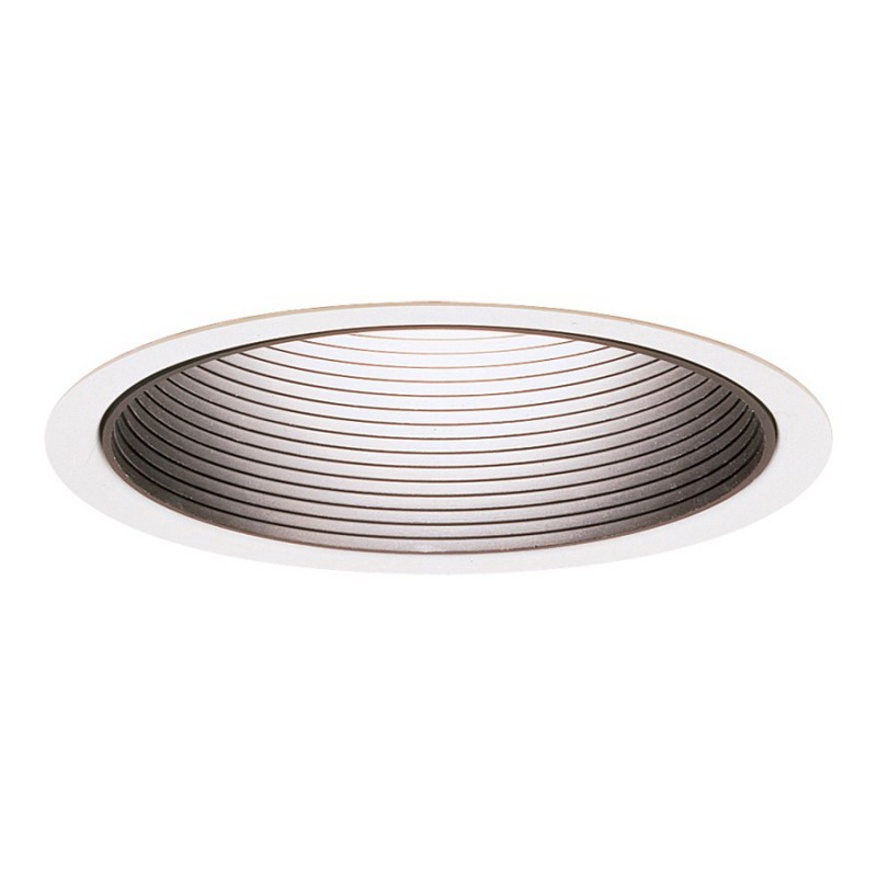 Lightolier 1176WH Philips Lytecaster® 6 Inch Baffle Reflector Trim; Aluminum Reflector, Phenolic Baffle, Insulated and Non-Insulated Ceiling