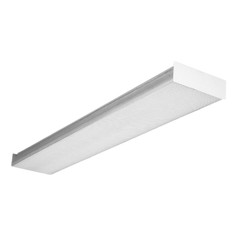 Lithonia Lighting / Acuity SB-4-32-MVOLT-1/4-GEB10IS 4-Light Surface Mount SB Series Fluorescent Square-Basket Wraparound Fixture; 32 Watt, White, Lamp Not Included