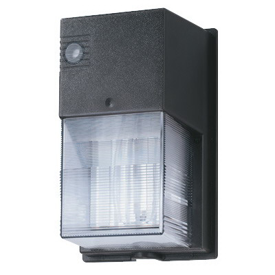 Lithonia Lighting / Acuity TWS-70S-120-PE-LPI-M6 1-Light Photoelectric Cell High Pressure Sodium Mini Wall Pack; 70 Watt, Dark Bronze, Lamp Included