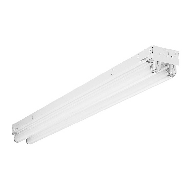 Lithonia Lighting / Acuity C-2-96T8-MVOLT-GEB10IS Lightquick® XD 2-Light Row Installations/Surface/Suspended Mount C Series Fluorescent Striplight Fixture; 59 Watt, White, 96 Inch Length, Lamp Not Included