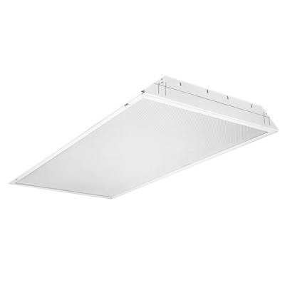 Lithonia Lighting / Acuity 2GT8-4-32-A12-MVOLT-GEB10IS 4-Light Lay-In Grid Mount 2GT8 Series Fluorescent Troffer; 32 Watt, White, Lamp Not Included