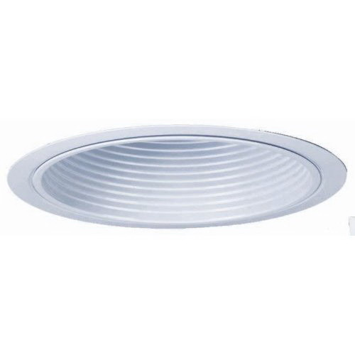 Lithonia Lighting / Acuity 6B2W-R6 Narrow Flanged 6 Inch Deep Baffle Full Reflector Trim; Aluminum Reflector, Insulated Ceiling