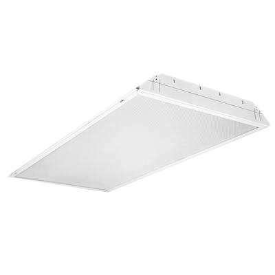 Lithonia Lighting / Acuity 2GT8432A12MVOLT14GEB10ISPWS1836LP74 4-Light Lay-In Grid Mount 2GT8 Series Fluorescent Troffer; 32 Watt, White, Lamp Not Included
